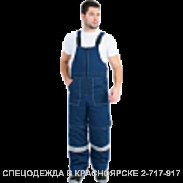 "Костюм ""Надым"" ут.куртка/полукоб.т. синий–серый СОП"