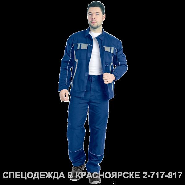 "Костюм ""Комфорт"" (курт+бр) т/синий–серый"