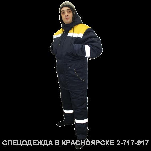"""""""Костюм """"Эвенкия"""" (кур/полукомб) синий с желтым и СОП"""