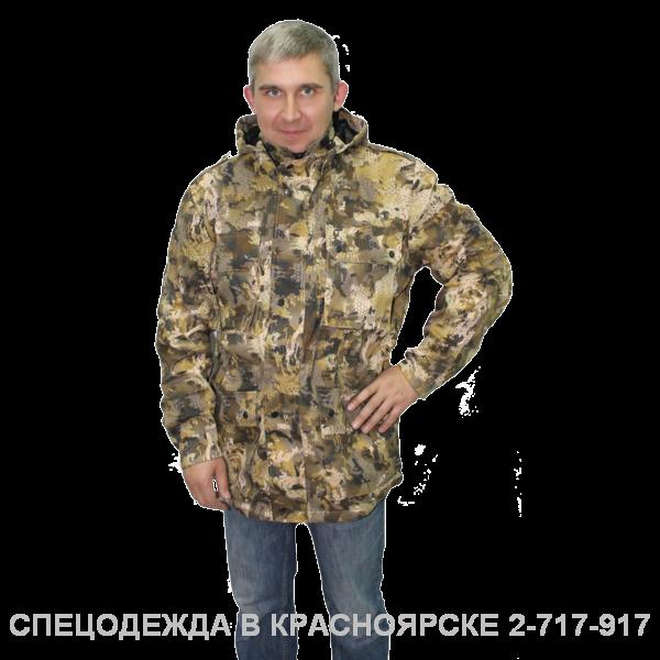 """""""Куртка """"Актив"""" КМФ соты, цв. беж. коричн."""