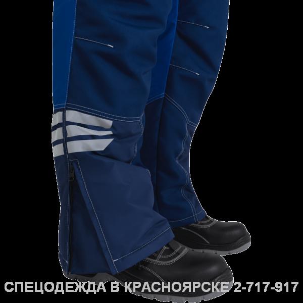 Полукомбинезон ЭДВАНС утепленный (синий с васильком, серый с черным)