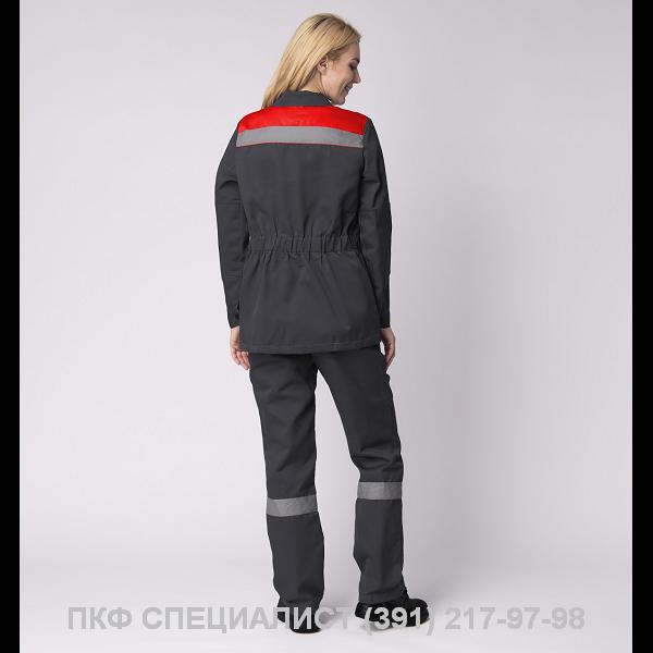 """Костюм """"Весна–1"""" женский СОП NEW серый/красный"""