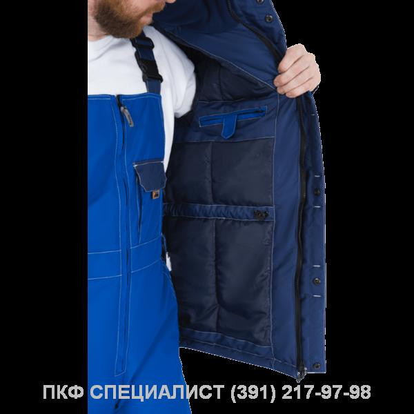Куртка ЭДВАНС утепленная (синяя с васильком; серая с черным)